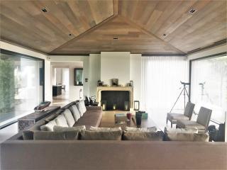 Habillage de plafond en chêne