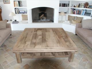 Table basse de salon en chêne massif