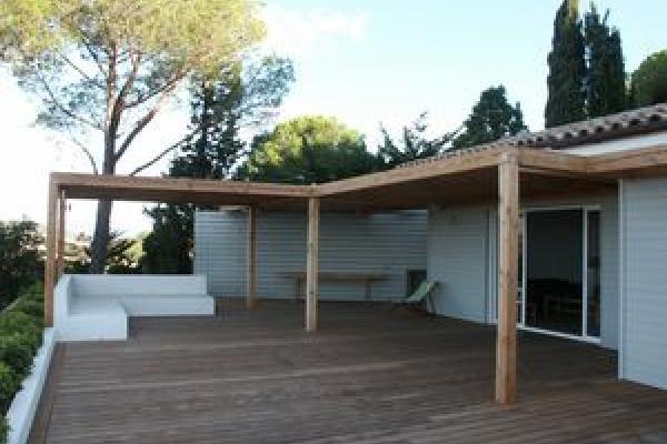 Exterior wood deck